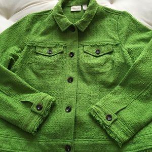 Chico's bright green blazer